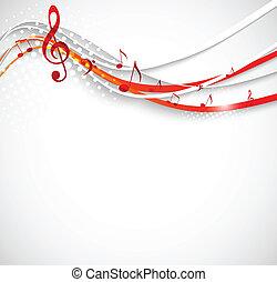 astratto, musica, fondo.