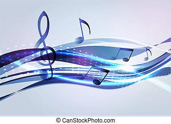 astratto, musica, fondo