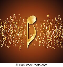 astratto, musicale, fondo