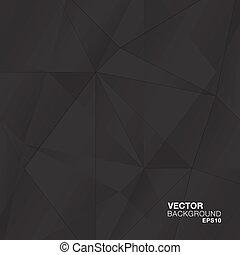 astratto, nero, geometrico, diamante, v