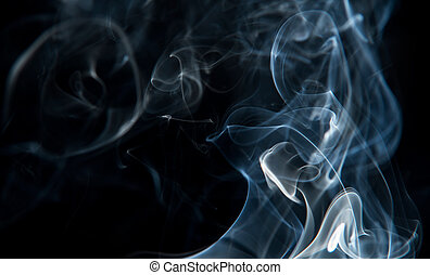 astratto, nero, isolato, fumo