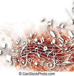 astratto, note musicali, fondo