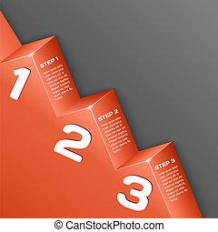 astratto, numeri, fondo, 3d