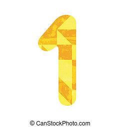 astratto, numero, giallo, uno