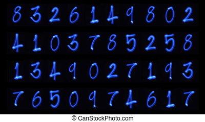 astratto, numero, sequenze