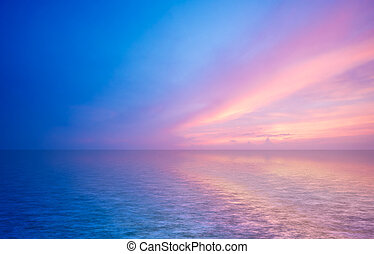 astratto, oceano tramonto