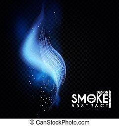 astratto, onda, effect., trasparente, mist., fumo, luce,...