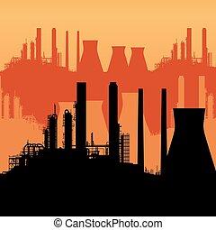 astratto, orizzonte industriale
