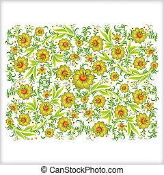 astratto, ornamento, isolato, fondo, floreale, bianco