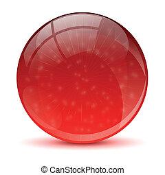 astratto, palla, rosso, icona