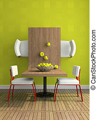 astratto, parte, dining-room