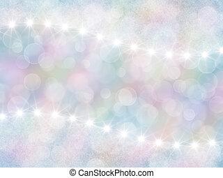astratto, pastello, arcobaleno, fondo, con, boke, e, stelle