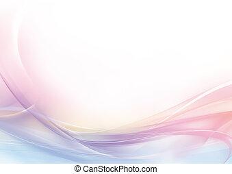 astratto, pastello, rosa, e, sfondo bianco