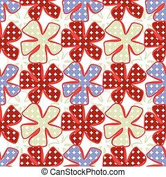 astratto, pattern., seamless, fiore, fondo.