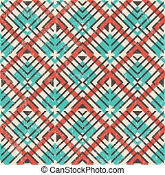 astratto, pattern., seamless, fondo., retro, geometrico