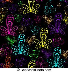 astratto, pattern., seamless, illustrazione, vettore, fondo