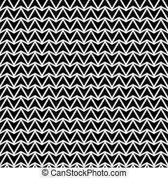 astratto, pattern., seamless, nero, white., geometrico