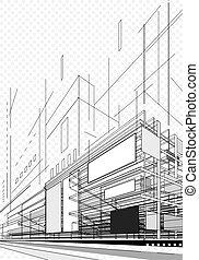 astratto, piano architettura
