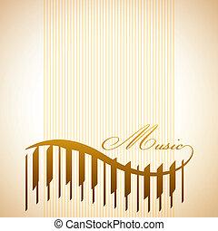 astratto, pianoforte, fondo