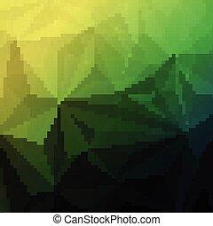 astratto, polygonal, triangolo