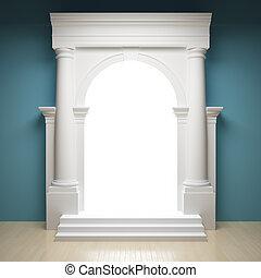 astratto, portale