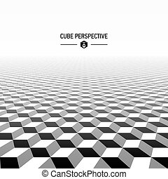 astratto, prospettiva, cubico