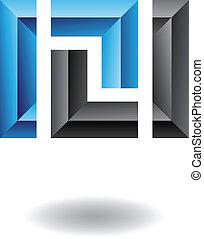 astratto, quadrato, rettangolare, icona