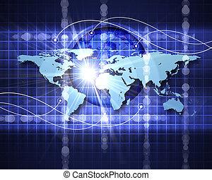 astratto, rete, immagine, sociale