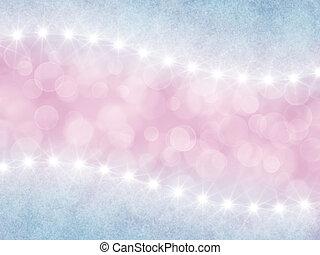 astratto, rosa, e, lilla, fondo, con, boke, e, stelle