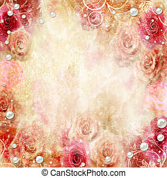 astratto, rose, fondo