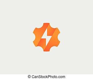 Rapido Fulmine Logotype Lampo Simbolo Digiuno Concetto