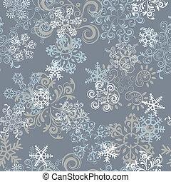 astratto, seamless, configurazione fiocchi neve