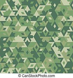 astratto, seamless, vettore, foresta, fondo, geometrico