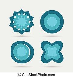 astratto, set, icone