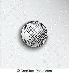 astratto, sfera, fondo