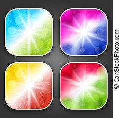 astratto, sfondi, app, icone