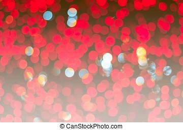 astratto, sfondo arancia, vacanza, natale, rosso, bokeh.