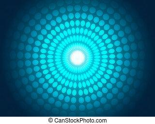 astratto, sfondo blu, luce, ardendo, cerchi
