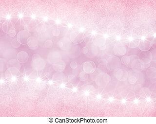 astratto, sfondo rosa, con, boke, e, stelle