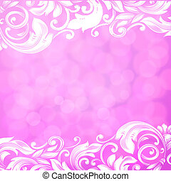astratto, sfondo rosa, con, turbini