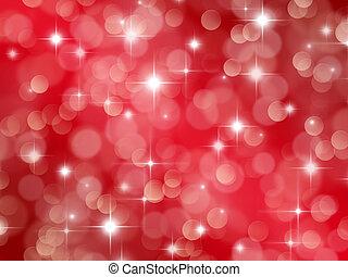 astratto, sfondo rosso, con, boke, effetto, e, stelle