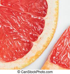 astratto, sfondo rosso, con, citrus-fruit