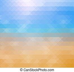 astratto, spiaggia, mosaico, fondo, oceano