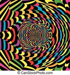 astratto, spirale, colorito