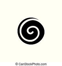 astratto, spirale, forma, vettore, logotipo, cerchio