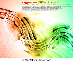astratto, splendore, di, luci, con, brillante, colori