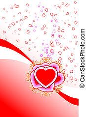 astratto, st., scheda valentine