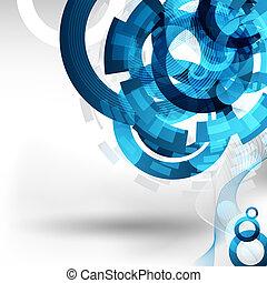 astratto, tecnologia, disegno