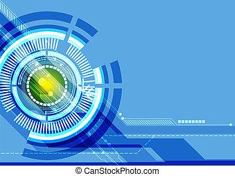 astratto, tecnologia, fondo, digitale
