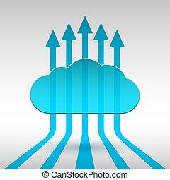 astratto, tecnologia, nuvola